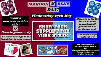 Maroon and Blue Day